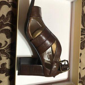 Heeled Sandals Dark Brown